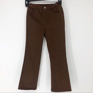 J Khaki Kids 6X Brown Adjustable Waist Khaki Pant